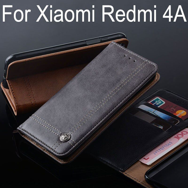 for Xiaomi Redmi 4A case Luxury Leather Flip cover Stand Card Slot Without magnets Business Cases for Xiaomi Redmi 4A fundas