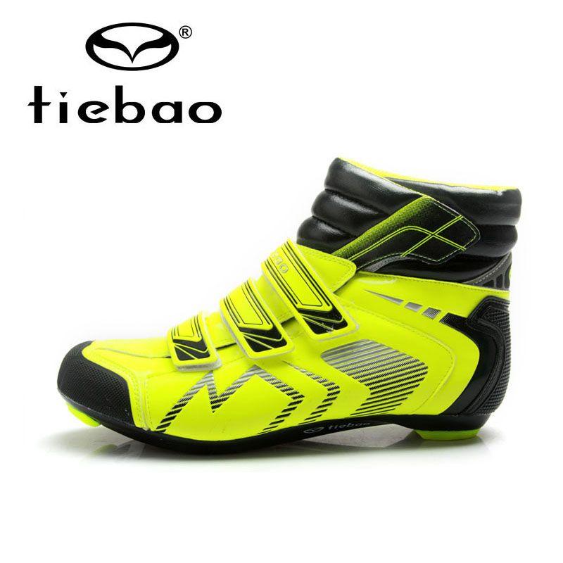 Tiebao winter warm radfahren schuhe rennrad fahrrad schuhe selbstsichernde rutschfeste radfahren schuhe stiefel sapatos de ciclismo