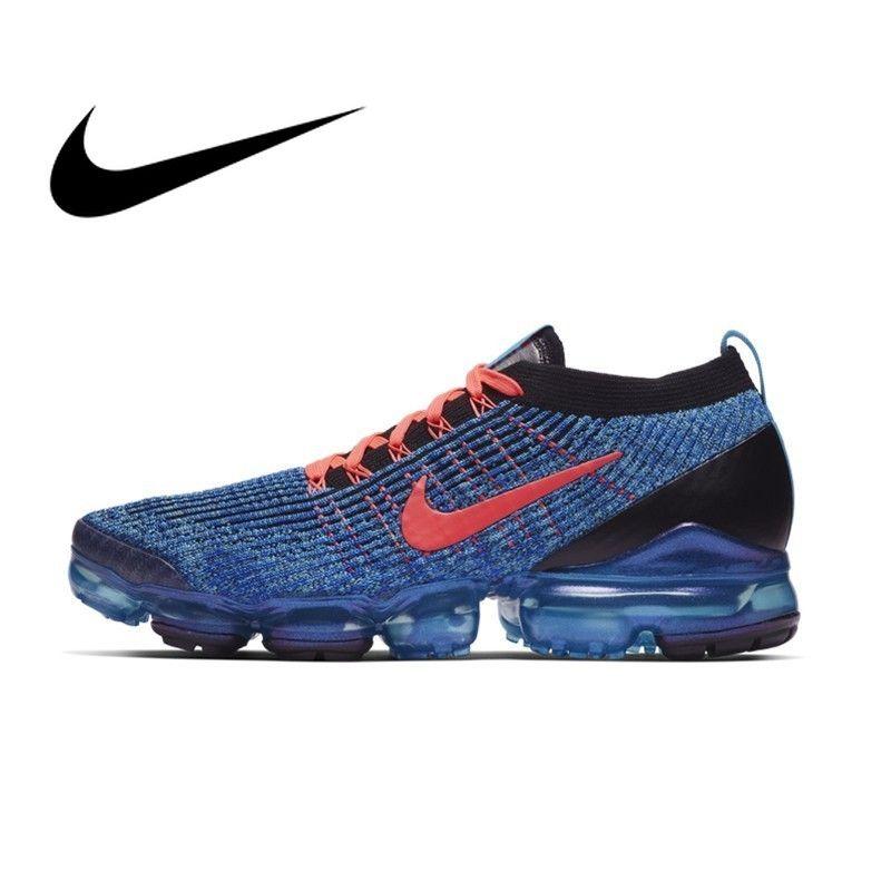 Original Authentischen Nike AIR VAPORMAX FLYKNIT 3 männer Laufschuhe Sport Im Freien Turnschuhe Schock Absorbieren Gute Qualität AJ6900
