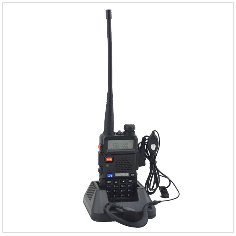 baofeng dualband UV-5R walkie talkie radio dual display 136-174/400-520mHZ two way radio with free earpiece BF-UV5R
