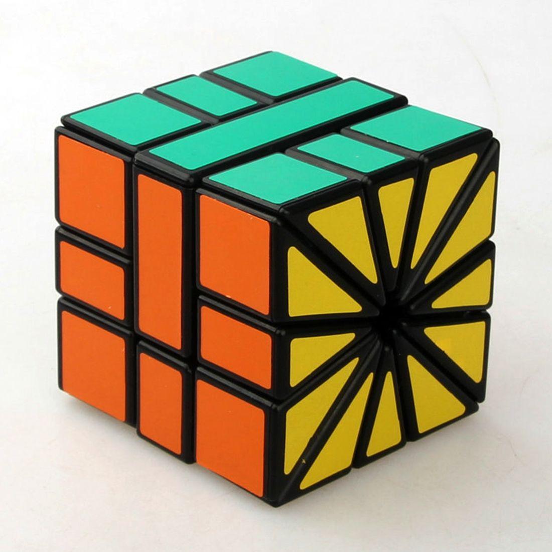 Квадратный II sq2 3x3x3 Скорость Cube сектора Magic Cube Puzzle игрушки-черный
