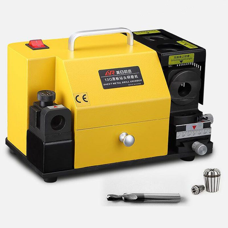 MR-13Q Drill Bit Sharpener Drill Grinder Grinding Machine portable carbide tools, 4-14mm 100-135Angle drill Sheet drill grindin