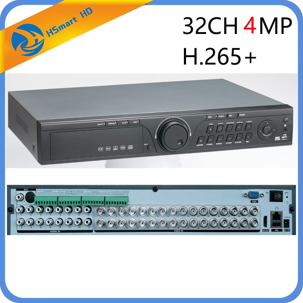 CCTV 32CH 5MP 32 Kanal AHD DVR H.265 CVI TVI NVR 1080 P HDMI VIDEO Unterstützung Analog AHD IP Kamera 16CH Audio Eingang Hybrid HD DVR