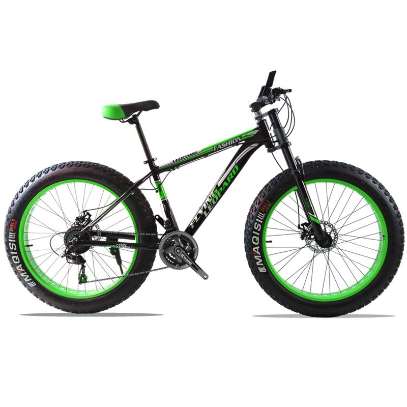 Mountain Bike 24speed 26x4.0 Aluminum alloy frame fat bike bicycle Snow bike Front and Rear Mechanical Disc Brade Male