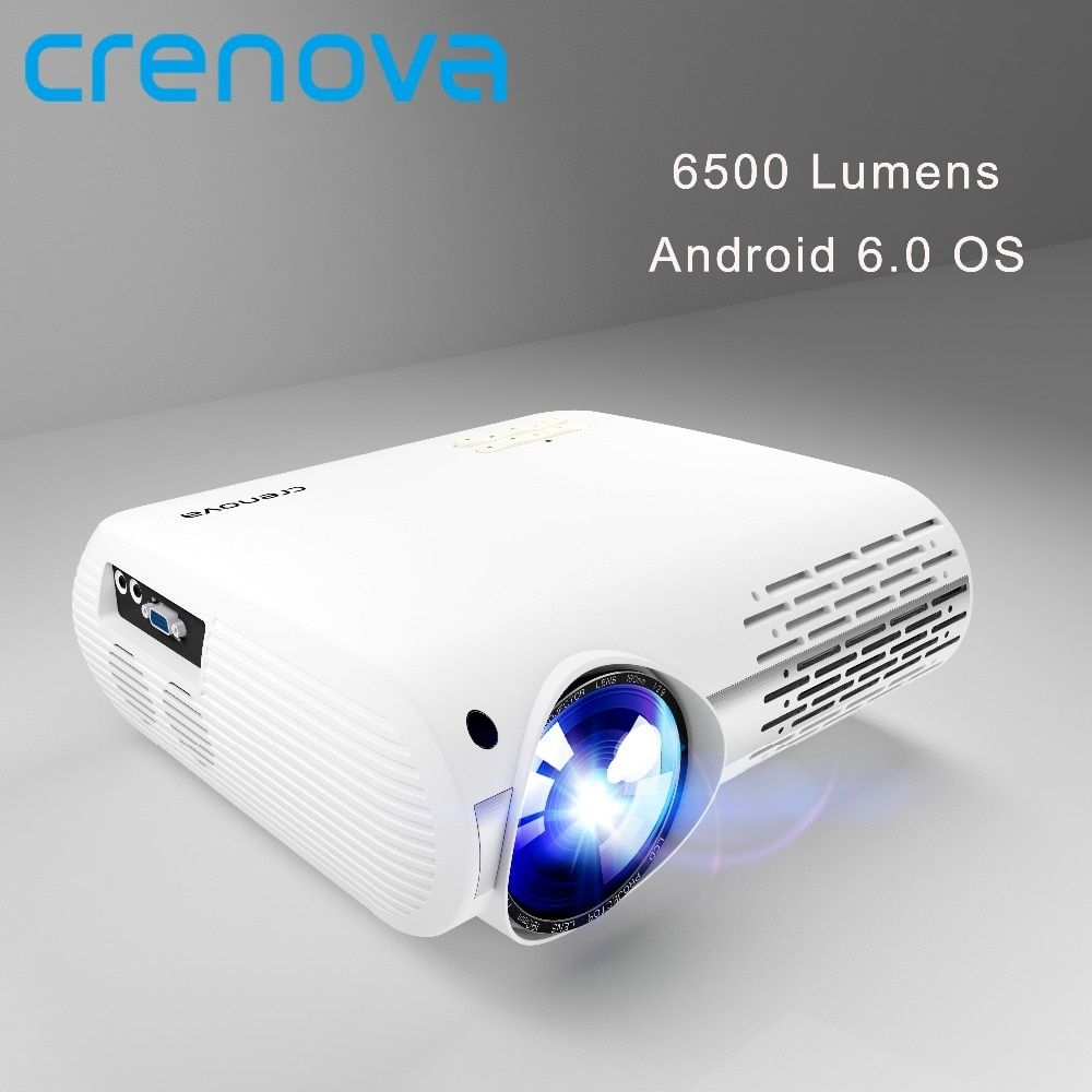 CRENOVA 6500 Lumens Home Theater Projectors For Full HD 4K*2K Movies With Android 6.0 OS WIFI Bluetooth Led Projector Proyector