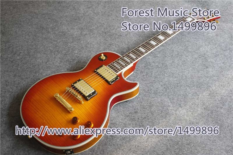 Hot Sale One Piece Neck And Body LP Custom Electric Guitars China OEM Mahogany Body In Stock