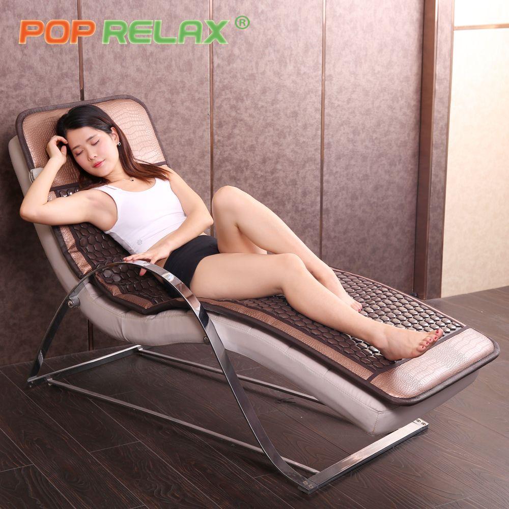POP RELAX Korea tech tourmaline germanium bed mattress stone sofa mat thermal bio health care far infrared electric heating pad