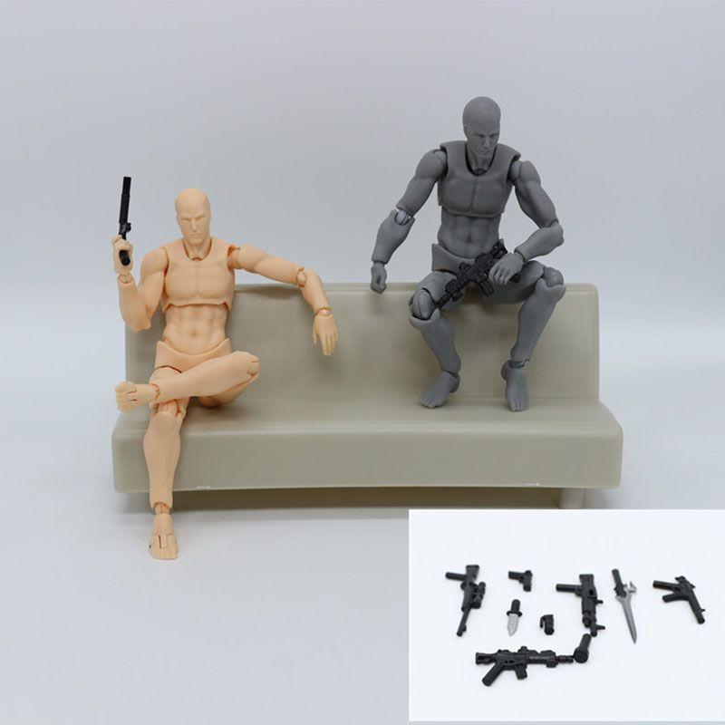 Figurine d'action en PVC dessin animé Figma mobile jouet poupée à collectionner 14 cm Mannequin Art croquis dessiner poupées du corps humain