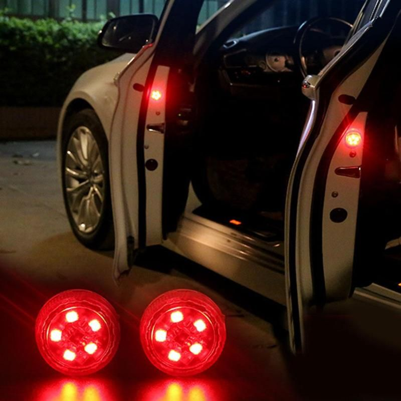 2pcs Magnetic 3LED 5LED Car Door LED Opening Warning Lamp Safely Flash Lights Waterproof Wireless Anti Collid Signal Light Voitu
