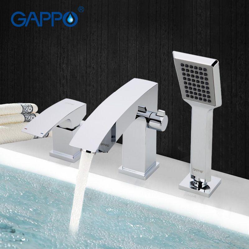 GAPPO salle de bains robinet de douche robinet de baignoire robinet de bain douche kit de douche cascade baignoire lavabo mélangeur d'eau évier tapsGA1107