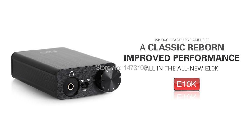 FiiO E10K Portable Headphone Amplifier USB DAC for Computer,support COAXIAL OUT