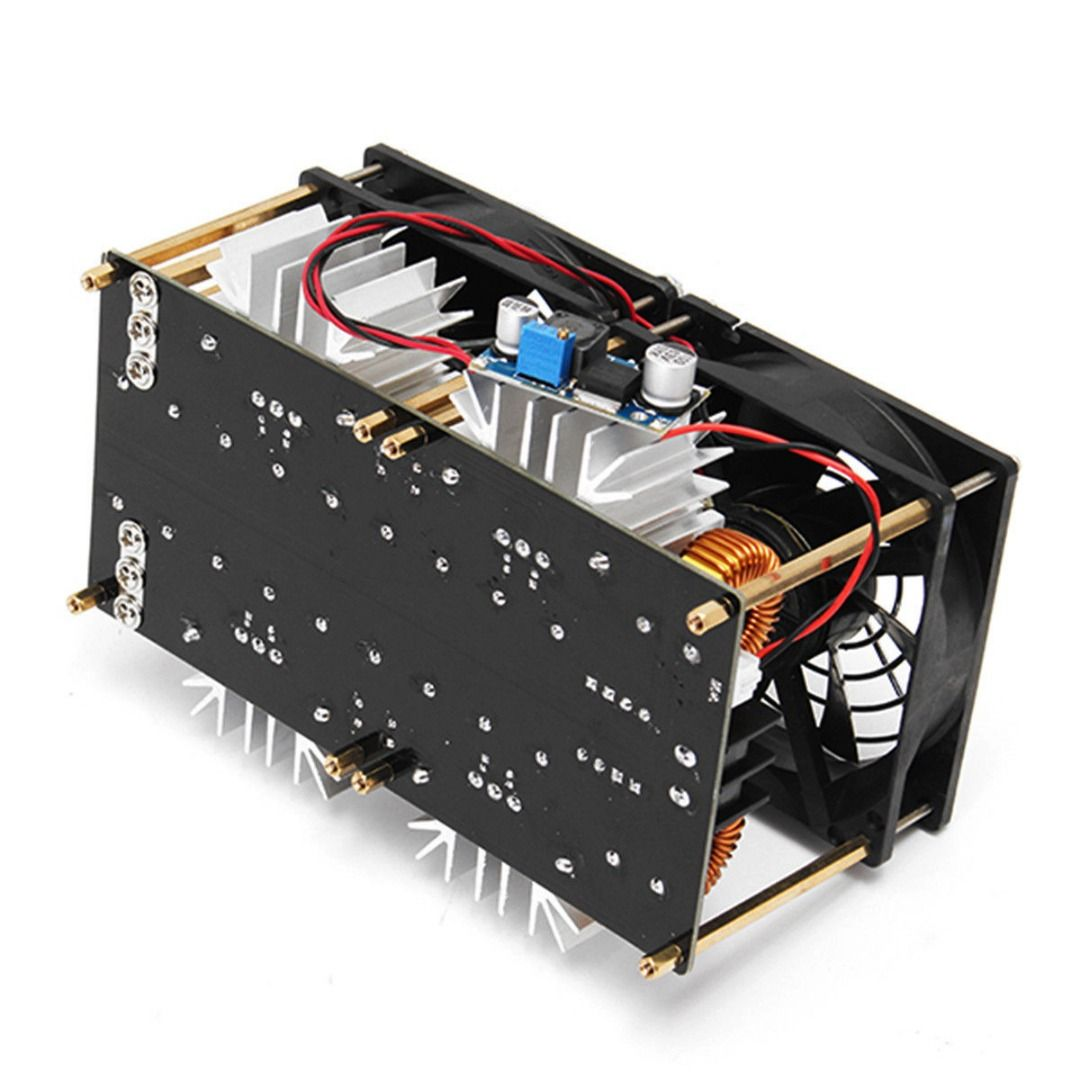 1800W ZVS Induction Heating PCB Board Module Flyback Driver Heater + 48V Copper Tube Coil For DIY Mayitr