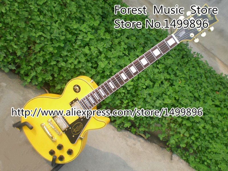 Randy Rhoads Signature Yellow LP Custom Electric Guitars China OEM Left Handed Guitar Available