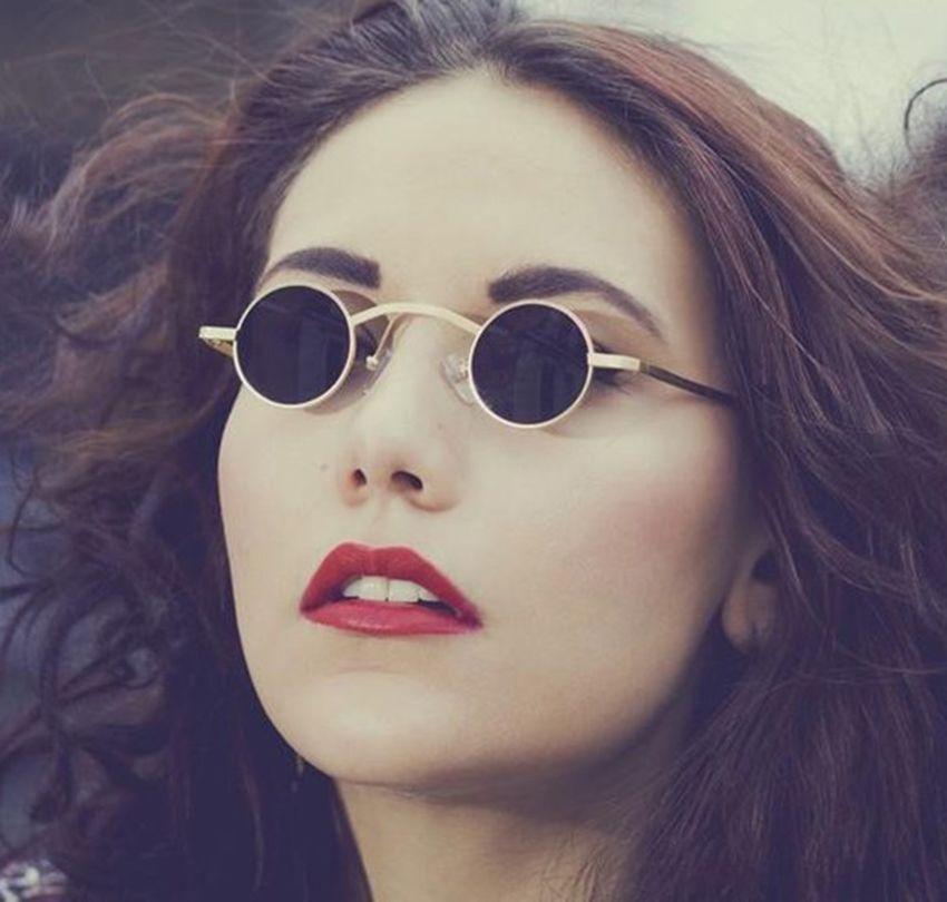 JackJad 2019 Nouvelle Mode Gothique Steampunk Petites lunettes De Soleil Rondes Marque Conception Vintage Rétro Lunettes De Soleil Oculos De Sol Feminino