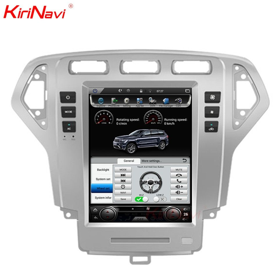 KiriNavi Vertical Screen Tesla Style Android 6.0 10.4 Inch Car Radio Dvd Player Gps For Ford Mondeo 2 Din Navigation 2007-2010