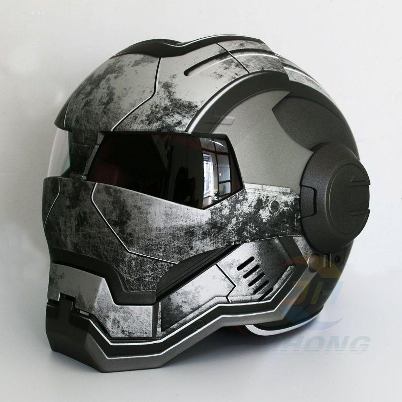 Masei Matt gray War Machine Mens womens IRONMAN Iron Man helmet motorcycle half helmet open face helmet ABS casque motocross
