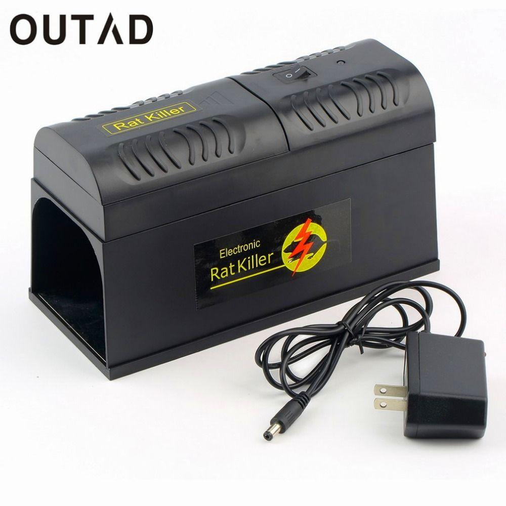 OUTAD électronique Rat piège souris souris rongeur tueur électrique choc US prise adaptateur haute tension répulsif Zapper antiparasitaire