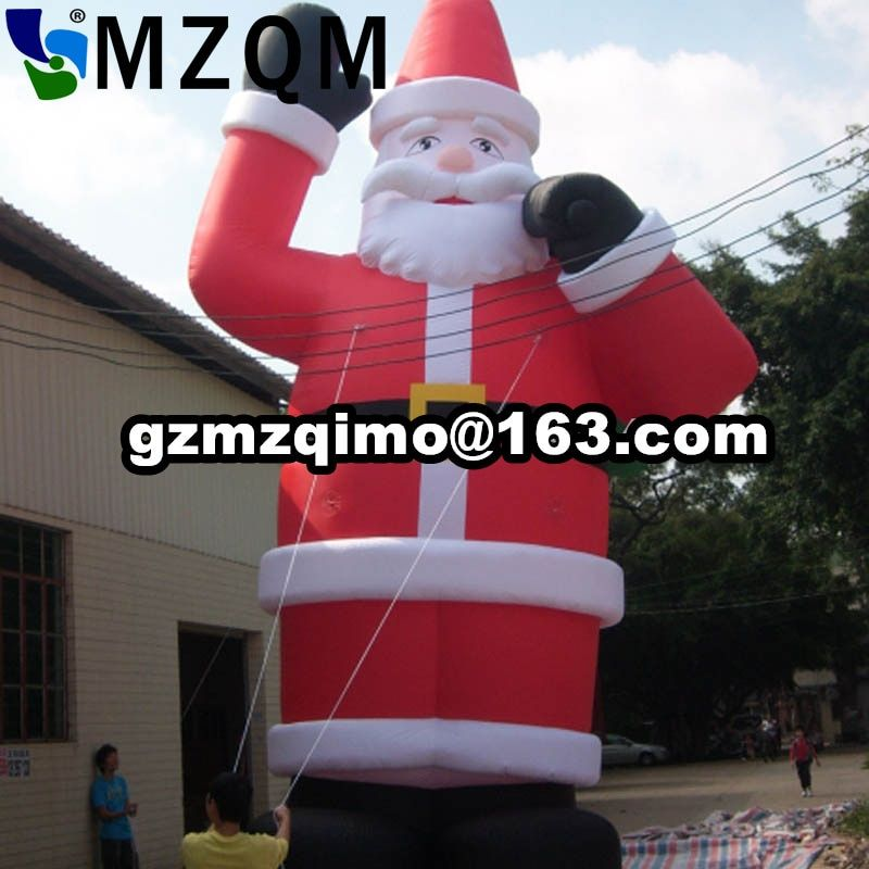 MZQM 2017 NEW Huge Commercial Airblown 30ft Giant Inflatable Santa Claus Xma Party Decoration + 1 CE/UL Blower + Repair Kids