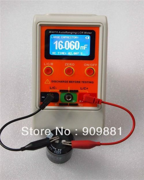 AutoRange LCR Pont Capacimètre Numérique D'inductance de capacité USB PC Programme Large Gamme 100 H 100mF 20MR Rechargeable