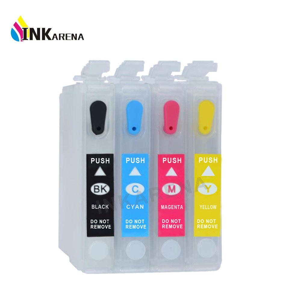 4 PCS T126 Refill Ink T1261 Ink Cartridge For Epson WorkForce 435 520 630 633 635 645 845 840 WF3520 WF3540 WF7510 WF7520 WF7010