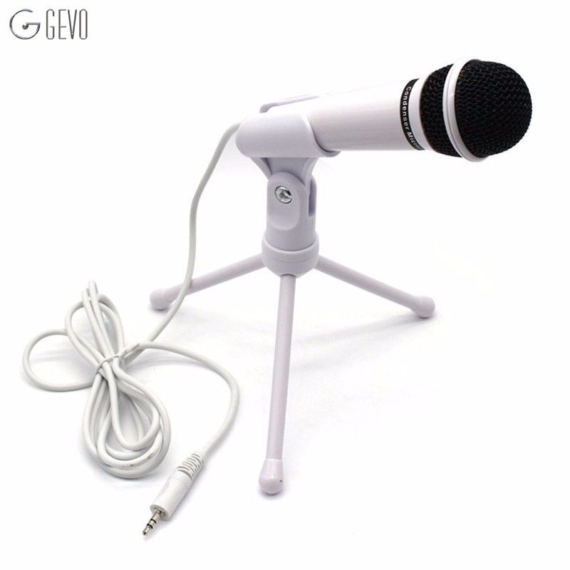 SF-910 Condenser Microphone Professional Vocal Studio Dynamic 3.5mm Jack Wired Mic With Stand For Computer Desktop Karaoke PC