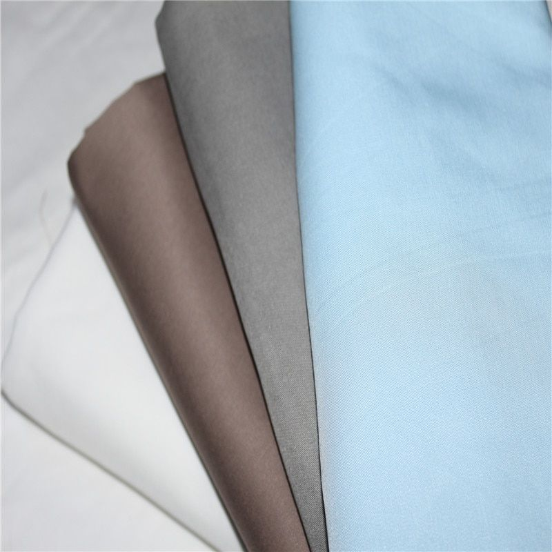 100% Bamboo Fiber Bactericidal Eco-Friendly White Gray light blue Color Flat Fitted Sheets Pillowcase 3 pieces set customize