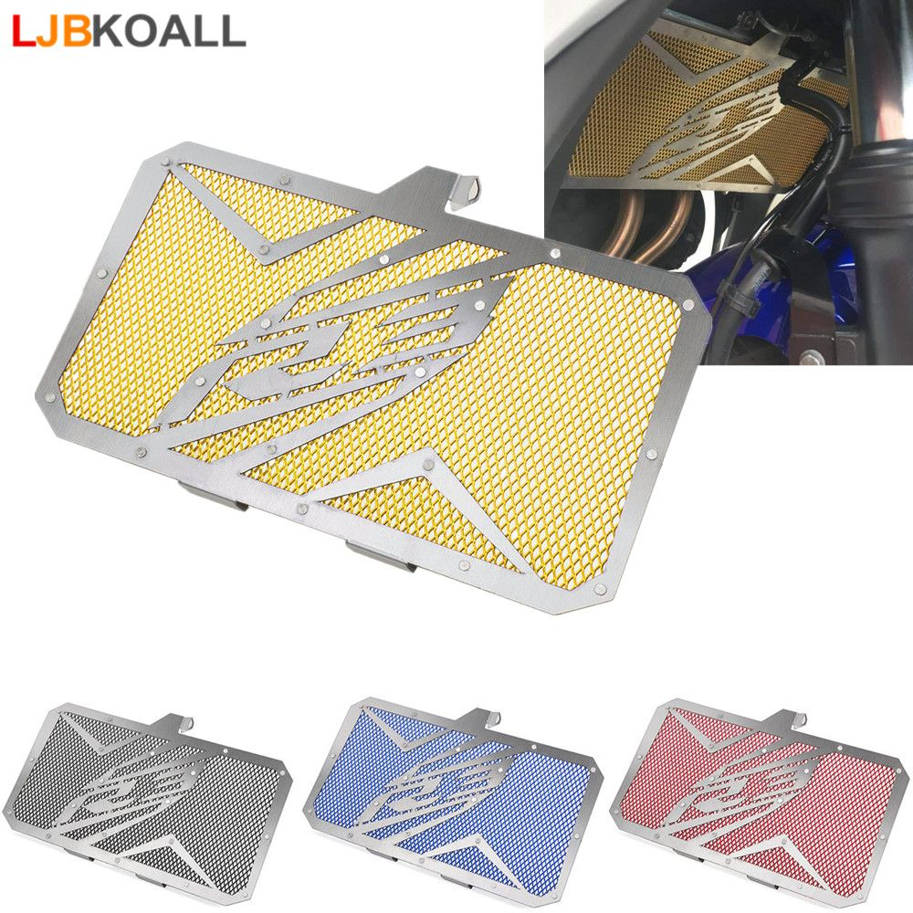 LJBKOALL Motorcycle Radiator Guard Grill Grille Cover Protector for Yamaha YZF R3 YZF-R3 2015 2016 2017 2018 Black Red Blue Gold