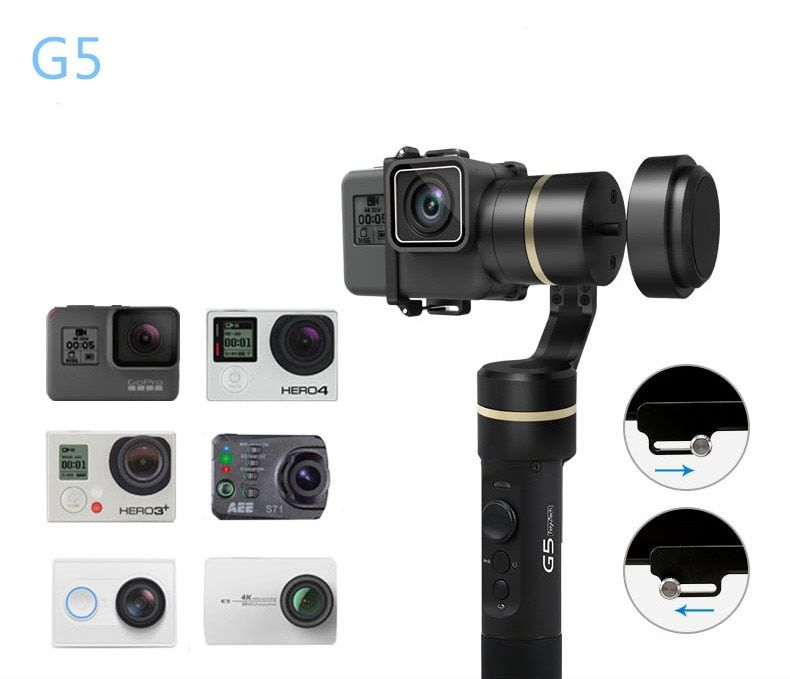 Feiyu G5 3-Axis Handheld Gimbal V2 for GoPro HERO5 5 4 Xiaomi yi 4k SJ AEE Action Cams Splashproof Bluetooth-enabled Control