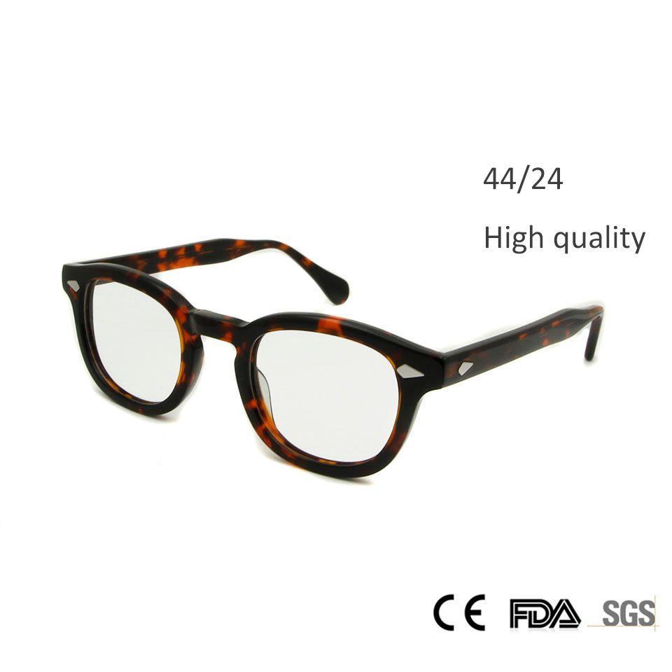 Nouveau haute qualité Johnny Depp lunettes de mode Style rond rétro Vintage lunettes cadre hommes fait à la main lunettes oculos de grau
