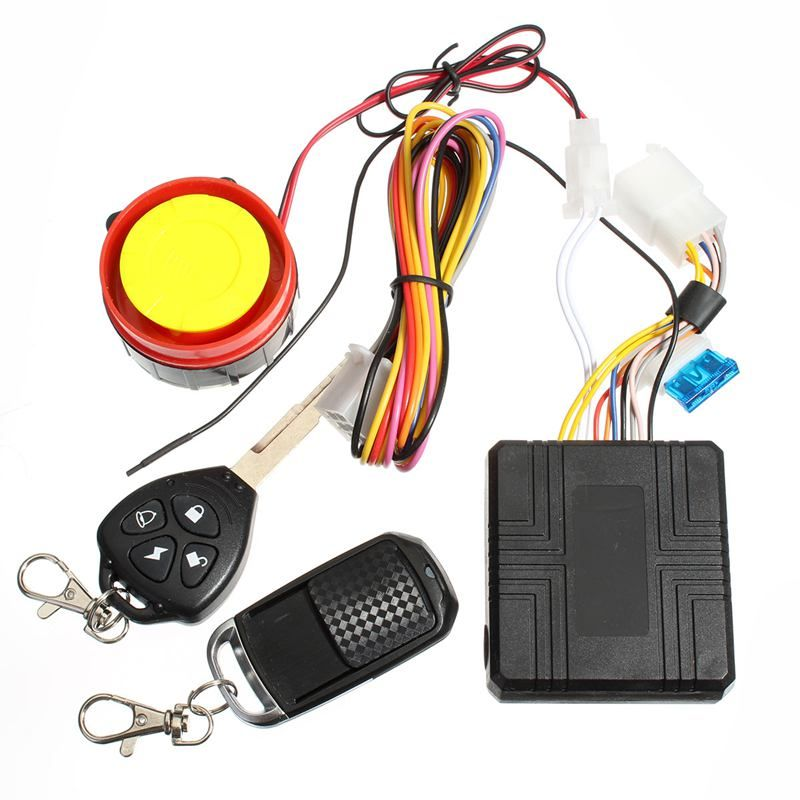 Motorcycle Motorbike Scooter Compact Security Alarm System Remote Control Engine Start for Suzuki /Honda /Yamaha