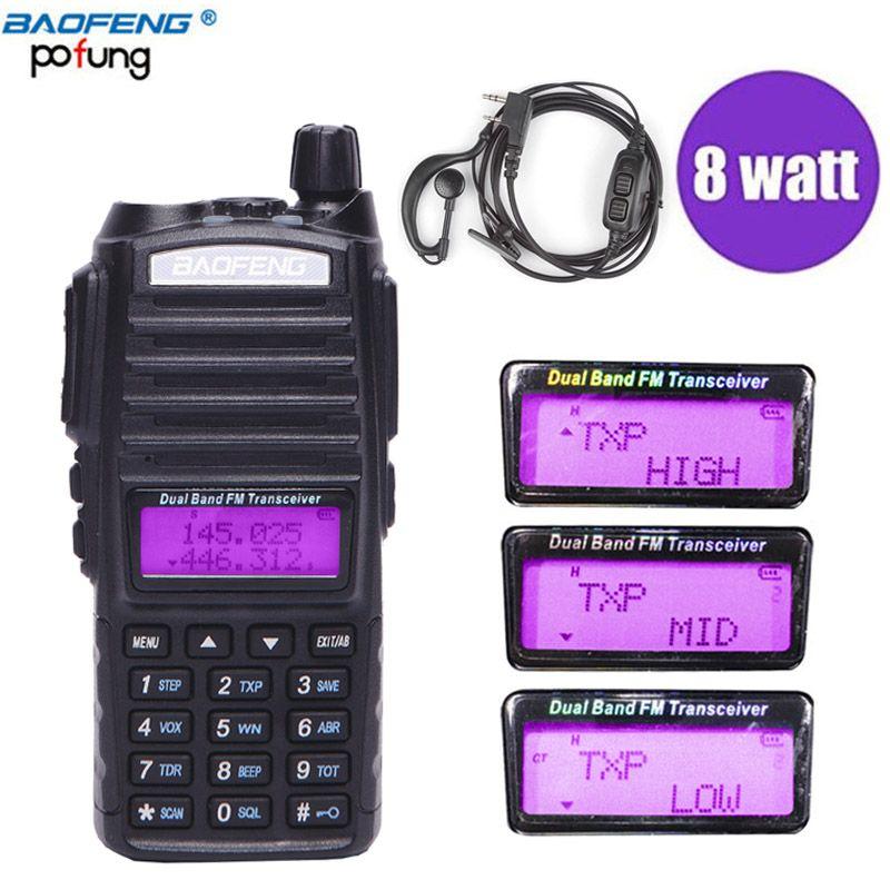 Baofeng UV-82Plus 8W 10KM Long Range Powerful Walkie Talkie Portable CB vhf/uhf two way Radio Amador 8 watts of BF UV82 Plus