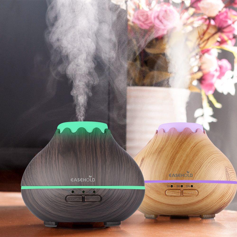 EASEHOLD 150 ml Aroma Huile Essentielle Diffuseur À Ultrasons Brume Fraîche Humidificateur Avec 7 Couleur LED Lumières Arrêt Automatique Super calme