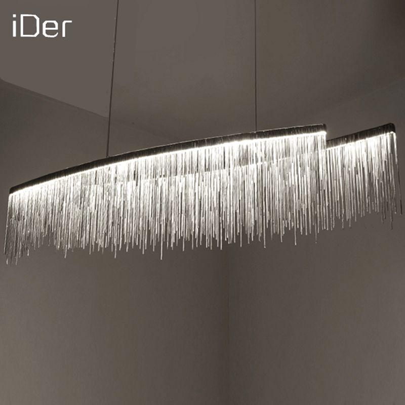 Design moderne décoratif lustre Nordique gland restaurant de luxe hôtel génie chaîne salon art éclairage
