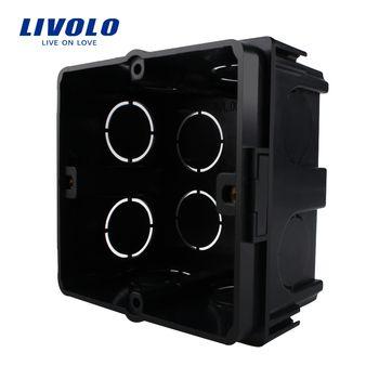 Livolo Livraison Choisir, noir En Plastique Matériaux, L'UE Standard Interne Boîte De Montage pour 80mm * 80mm Standard Mur Interrupteur