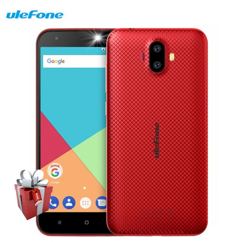 Ulefone S7 Smartphone 5.0 inch 1GB RAM 8GB ROM Android 7.0 Quad Core MTK6580A 8MP Dual Rear Camera WCDMA 3G Unlocked Cell Phones