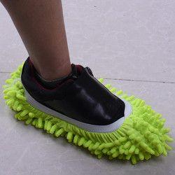 Nouvelle arrivée 1 pcs Multifonctionnel Micro Fiber De Pantoufle Chaussure Couvre Solide Poussière Cleaner Maison Salle de Bain Plancher Vadrouille Pantoufle