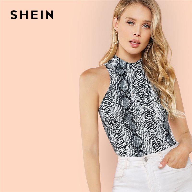 SHEIN Moderne Dame Streetwear Schwarz V-Kerbe Dicken Strap Rippe Stricken Ärmelloses Slim Fit Plain Top Sommer Frauen solide Westen