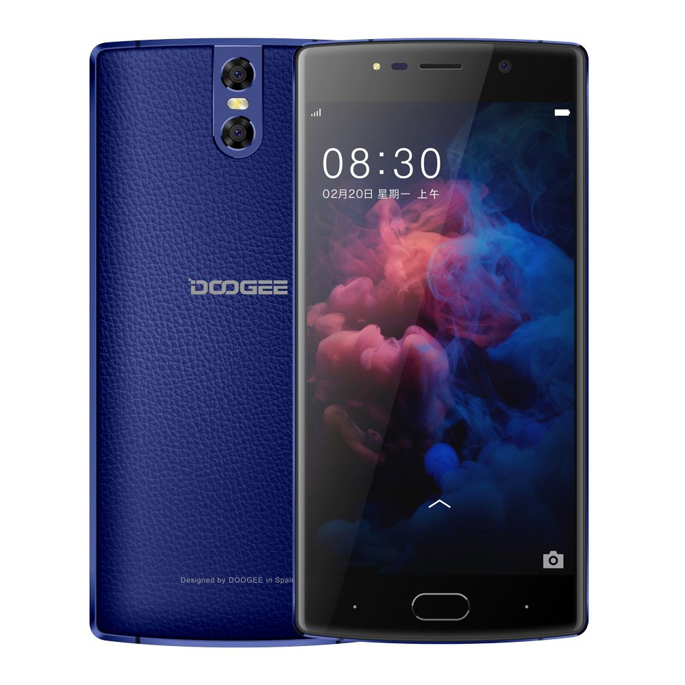 DOOGEE BL7000 4 GB RAM 64 GB ROM Double 13MP Caméra Mobile Téléphone 5.5 FHD Android 7.0 MTK6750T Octa core 7060 mAh 12V2A Charge Rapide