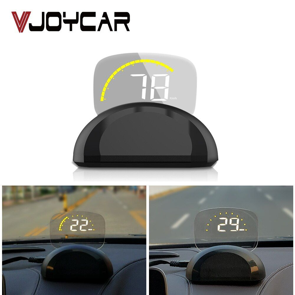 VJOYCAR New C700s Car HUD Head Up Display OBDII+GPS System Overspeed Warning Car Head Up Display With Mirror Digital Projection