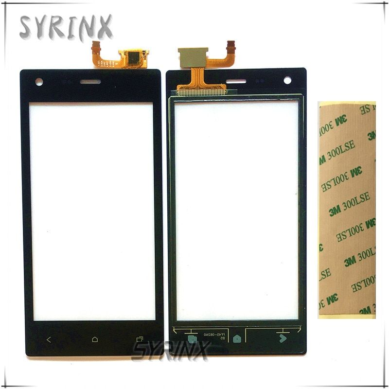 Syrinx + Tape For beeline Pro 4 Sensor Touch Screen Moible Phone Touch Panel For beeline Pro4 Front Glass Touchscreen Touchpad