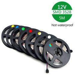 RGB strip Led Light Strips RGB Led Tape/Ribbon SMD3528 Led Strips Bar 12V strip No-Waterproof 5M/roll Led Christmas Lights