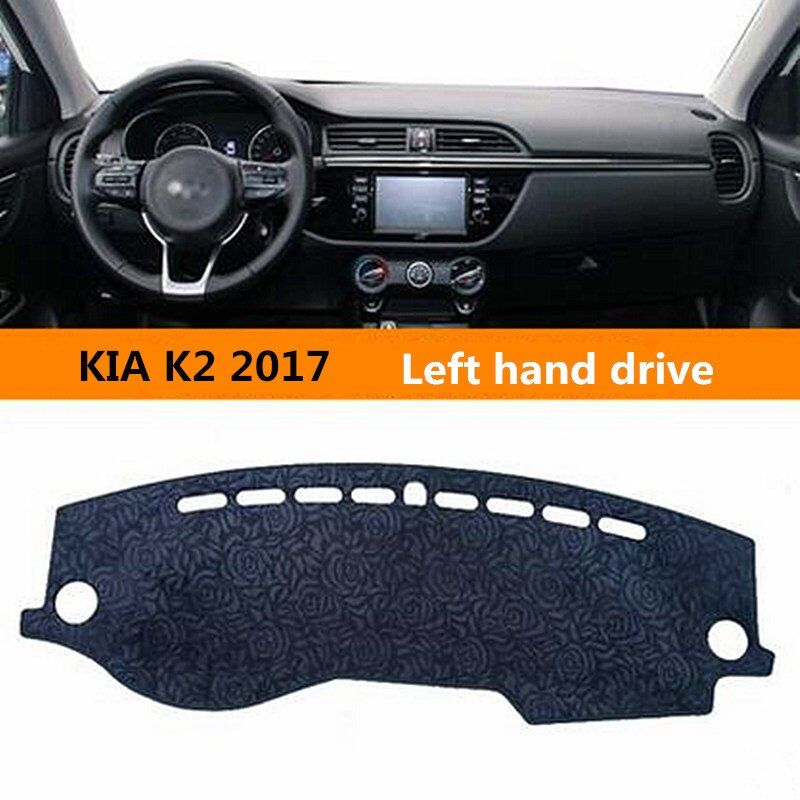 Left hand drive Car Dust-proof Protective dashboard cover for KIA K2 Simple style Auto Non slip dashboard Mat for KIA K2 2017