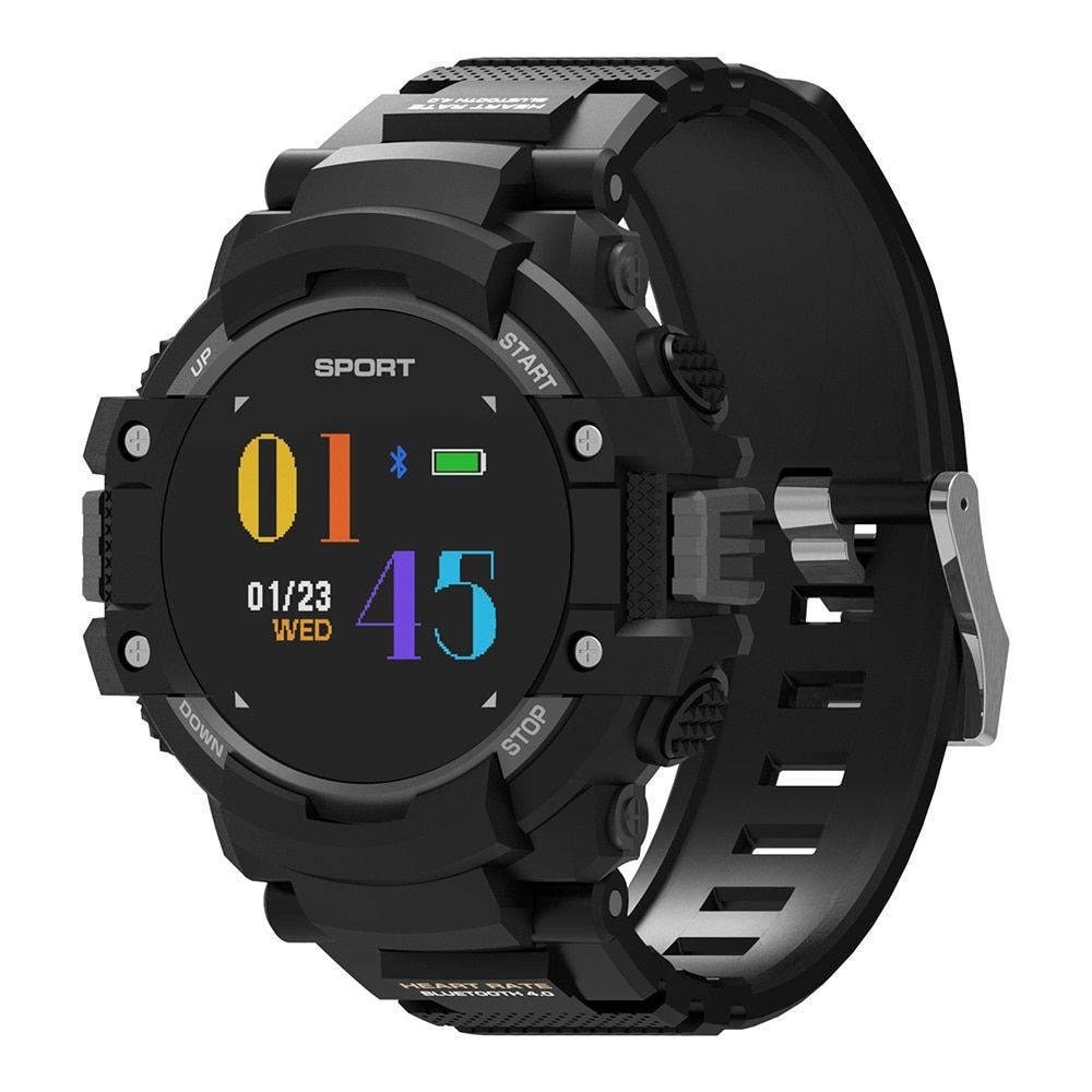 DTNO.I NO.1 F7 Smart Watch Real-time Heart Rate Smartwatch Temperature Monitor GPS Call Alert Sports Outdoor