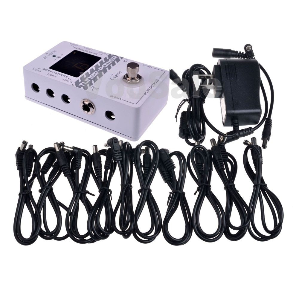 Caline CP-09 Tuner-Power 2 in 1 for DC 9V Guitar Effect Pedal Eight Isolated Outputs Power Supply With Ture Bypass