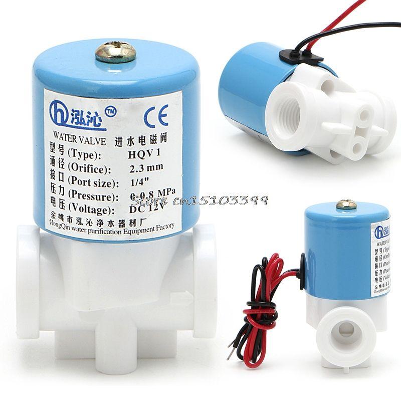 G1/4 Magnetventil Kunststoff Normalerweise Geschlossen 2 Way 12 V DC 0-120PSI G08 Drop ship