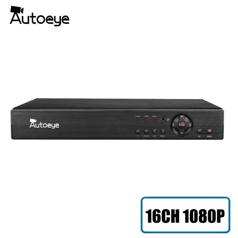 Autoeye 16CH 1080P HI3531A CCTV DVR NVR HVR 5 IN 1 Hybrid DVR support XMEye