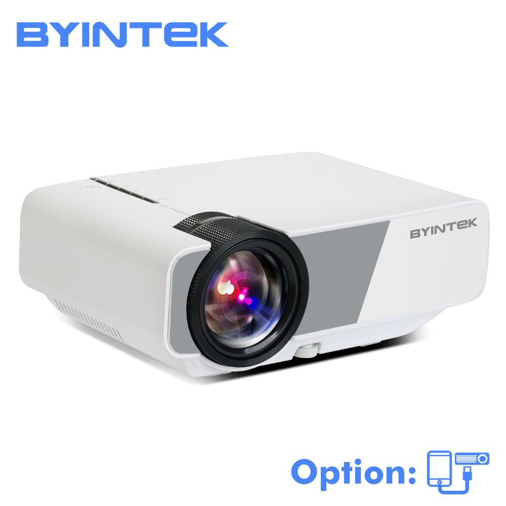BYINTEK SKY K1/K1plus LED Portable Home Theater HD Mini Projector (Optional Wired Sync Display For Iphone Smart Android Phone)