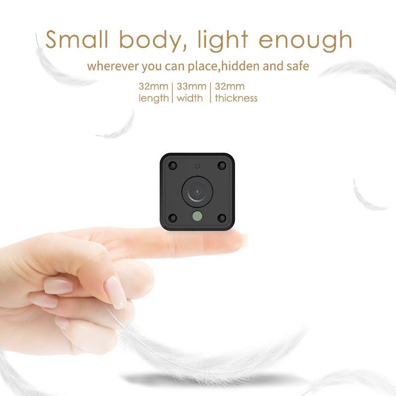 Marlboze 720P HD WIFI Mini IP Camera Night Vision Motion Detect Mini Camcorder Loop Video Recorder Built-in Battery Body Cam