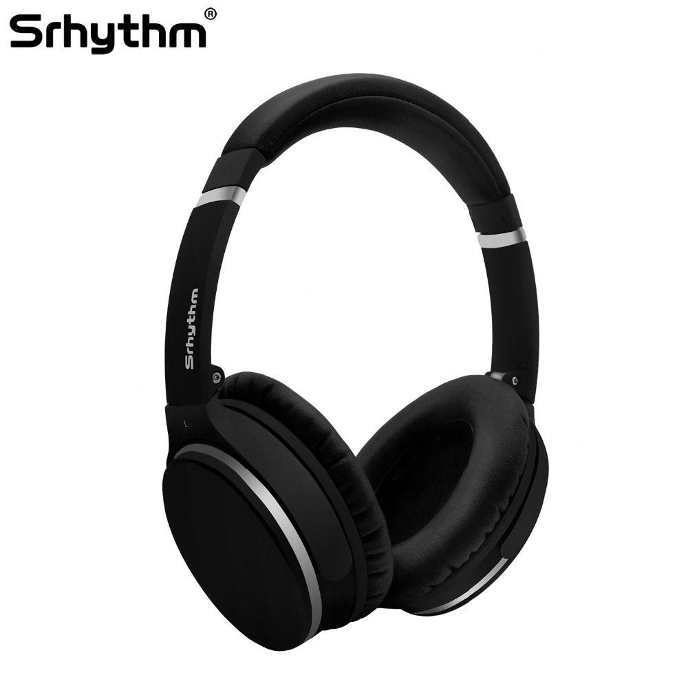 Active Noise Cancelling Headphones Wireless Bluetooth earphones ANC stereo deep bass Sport Foldable Over Ear Headset microphone