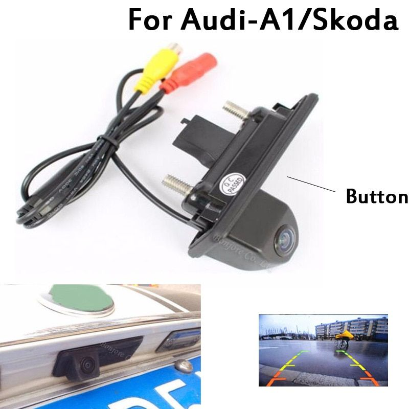Parking CCD Car Trunk Handle Rearview Camera For Skoda/Octavia/Fabia/Superb/Roomster/Yeti/Audi/A1 Car Backup cam with Button